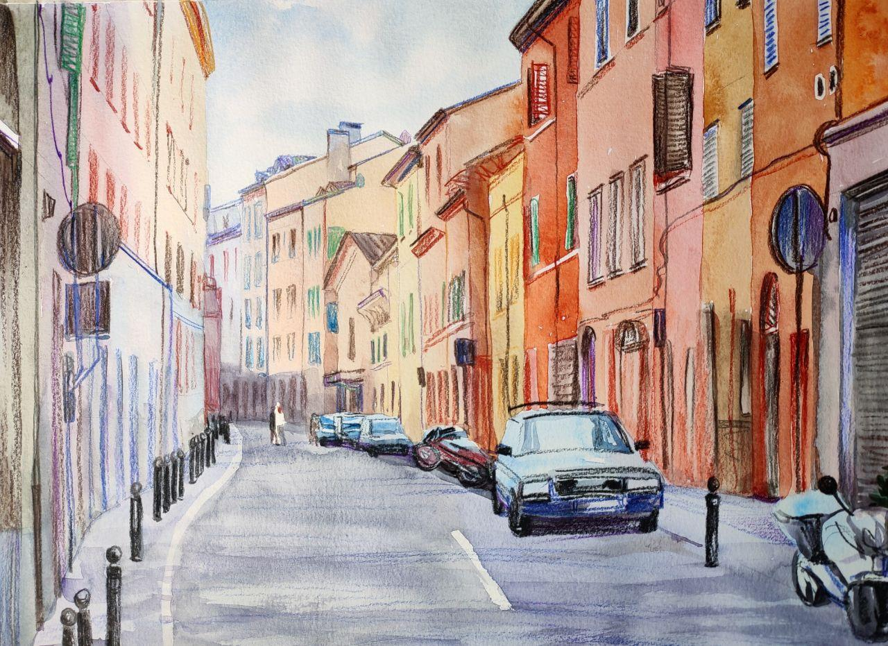 estudio de arte en diferentes técnicas al aire libre